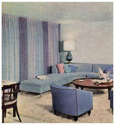 Retro Home Decor 1950s Living Room, Mid Century Modern Living Room, Mid Century Modern Decor, Mid Century Modern Furniture, My Living Room, Mid Century Design, Midcentury Modern, Eclectic Modern, 1950s Decor