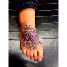 Tattoo design newschool color anchor