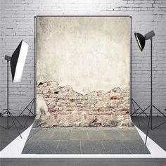 5x7ft Old Brick Wall Photography Backdrop Background Studio Prop