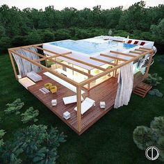 Interesting idea and project! Rooftop Pool House by @landekadesign Located…