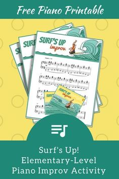 Keep June Piano Lessons Rockin' With This Surf's Up Improv Activity Piano Lessons, Music Lessons, Piano Games, Piano Classes, Free Piano, Online Lessons, Piano Teaching, Surfs Up, Music Education