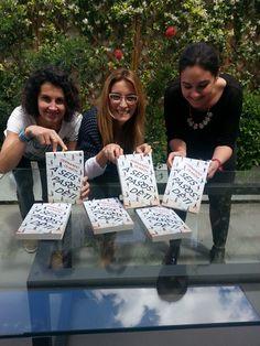 Laura, Palmira y Raquel, de la Agencia Dos Passos. ¡Qué arte tenéis!