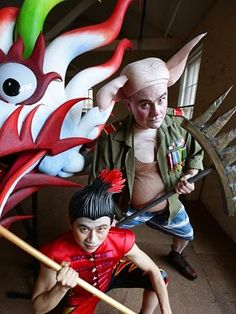 The Water Dragon, Monkey and Pigsy in Monkey.Journey to the West Journey To The West, Water Dragon, Monkey King, Behind The Scenes, Sun, Fictional Characters, Fantasy Characters