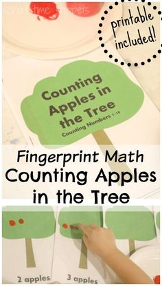 Practice 1:1 Correspondence and Counting with your preschooler with this fun apple theme math activity! Use your fingerprint to make the apples or adapt activity to be re-used later with other manipulative.