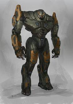 Jaeger sketch, Jonathan Gonzalez on ArtStation at https://www.artstation.com/artwork/jaeger-sketch