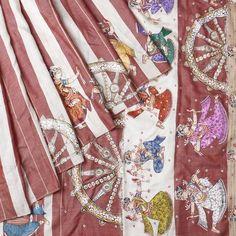 Orissa Tussar Silk Handpainted Beige And Brown Saree Fabric Painting, Fabric Art, Kalamkari Painting, Fabric Paint Designs, Tussar Silk Saree, Paper Flowers Diy, Traditional Sarees, Indian Ethnic Wear, Floral Tie