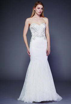 Luxe Bridal Gowns | Badgley Mischka's 1950's Buenos Aires wedding dress collection