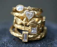 22k gold/diamond ring collection