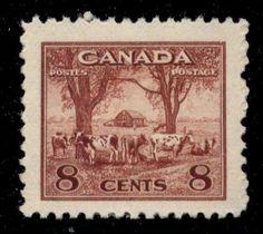 Canada-256-SG-382-MNH-VF-8c-George-VI-War-5548-CV-3-75-Farm-Scene