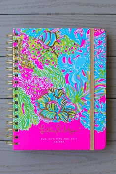Lilly Pulitzer Lovers Coral 17 Month Large Agenda at reddressboutique.com
