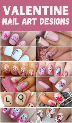 These best Valentine Nails range from super simple to a little more intricate to get you in the mood for love. Valentine's Day is the perfect excuse to rock some hearts and adventurous designs. Nail Art Saint-valentin, Cute Nail Art, Cute Nails, Pretty Nails, Valentine Nail Art, Holiday Nail Art, Valentines Sweets, Valentine's Day Nail Designs, Nail Polish Designs