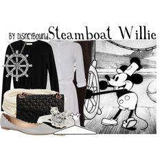 Steamboat Willie, created by leslieakay on Polyvore