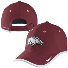 7de292bab61 Mens Arkansas Razorbacks Nike Cardinal 2014 Coaches Performance Adjustable  Hat University Of Arkansas