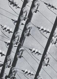 Albert Renger-Patzsch Insulated High Tension Wires from Die Welt Ist Schon 1928 http://24.media.tumblr.com/tumblr_md5cv1XnWA1r6uz3lo1_500.png