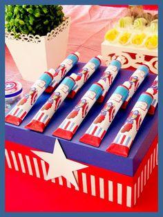Festejar Ateliê de Festas e Lembrancinhas: Capitão América para os 4 aninhos do Bento !