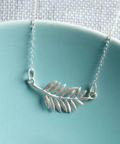 Look what I found on #zulily! Sterling Silver Fern Necklace #zulilyfinds