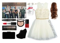 """""""School Party with 5sos"""" by nialleratheart on Polyvore featuring David Charles, Forever Link, John Lewis, Victoria's Secret, Forever 21, MAC Cosmetics, NYX, Sephora Collection and NARS Cosmetics"""