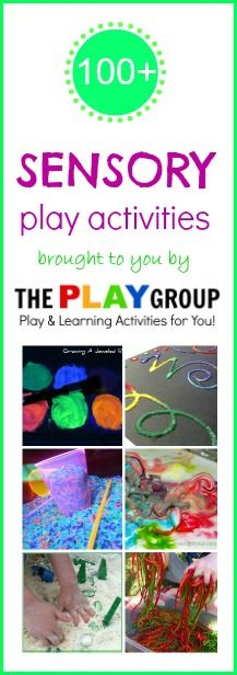Over 100 FUN sensory play ideas