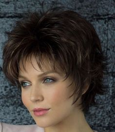 Best Wigs @ Best Wig Outlet Winter Synthetic Wig by Rene of Paris<br> Shaggy Short Hair, Short Shaggy Haircuts, Haircuts For Fine Hair, Short Hair With Layers, Short Hair Cuts For Women, Silver Blonde Hair, Mom Hairstyles, Human Hair Wigs, Hair Pieces