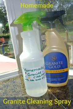 Homemade Granite Cleaning Spray