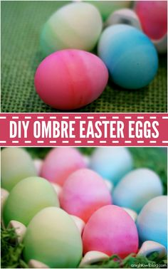 Ombre Easter Eggs - such a fun and pretty way to dye your eggs! #yearofcelebrations #easter