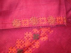 red kutchwork tunic- sleeves Kutch Work, Mirror Work, Neck Design, Indian Attire, Blouse Designs, Hand Embroidery, Tunic, Women's Fashion, Stitch