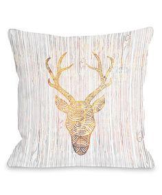 Another great find on #zulily! White Fire Reindeer Head Throw Pillow #zulilyfinds  30.00
