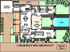 H Shaped House Plans h-shaped house plans with pool in the middle pg3 | courtyard
