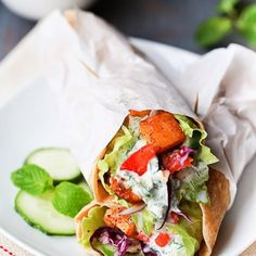 Vegetarian Gyros: A vegetarian version of the Classic Greek wrap that is just finger licking good