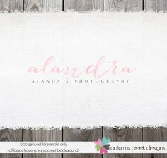 Premade Photography Logo  Gorgeous Watercolor by autumnscreek, $35.00