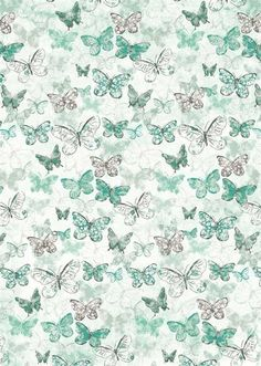 Butterflies on Blue: