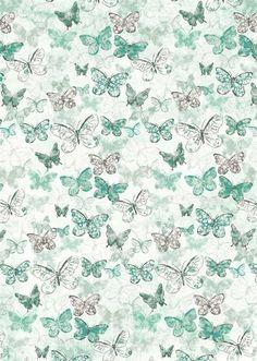 Butterflies on Blue: