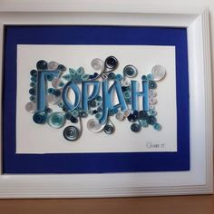 Kids birthday gift, Quilling name for boys and girls, wall decoration in kids room, personalized birthday gift Kids Birthday Gifts, Quilling, Gifts For Kids, My Etsy Shop, Unique Jewelry, Frame, Handmade Gifts, Check, Vintage