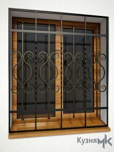 Кована решітка на вікно GR4 Window Grill Design Modern, Grill Door Design, Modern Design, Wooden Door Hangers, Wooden Doors, Wrought Iron Fences, Entrance Doors, Exterior Design, Windows