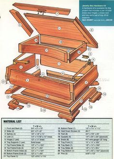 #1694 Jewelry Box Plans - Other Woodworking Plans and Projects