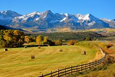 Ridgway, Ouray, Colorado One of my favorite Colorado landscape views! Colorado Springs, Colorado Rockies, Colorado Mountains, Ouray Colorado, Pagosa Springs, Alberta Canada, Ridgway Colorado, Places To Travel, Places To See
