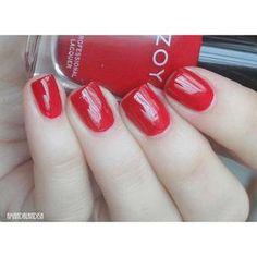 Zoya Nail Polish in Janel can be best described as a deep red cream that has a warm undertone. Zoya Nail Polish, Nail Polish Colors, Warm Undertone, Shades Of Red, Manicures, Nails, Nail Salons, Finger Nails, Ongles