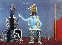 'Die Paare in der Spitze', öl auf leinwand von Max Ernst (1891-1976, Germany)