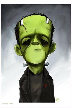 Frankenstein Monster Halloween art - used Illustrations, Illustration Art, Character Illustration, Chibi, Frankenstein's Monster, Bride Of Frankenstein, Classic Monsters, Creature Feature, Little Monsters