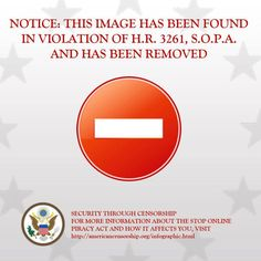 Call you Elected officials and tell them to oppose SOPA and PIPA. Stop censorship and save sites like Pinterst.com