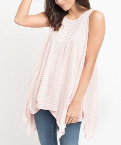 This Pink Stripe Sleeveless Tunic is perfect! #zulilyfinds