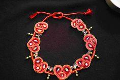 Kette+3x+rot+von+barfelt's+shop+für+wolliges+auf+DaWanda.com