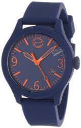 "ESQ Movado Unisex 07301441 ""ESQ ONE"" Stainless Steel Watch with Navy Silicone Band"