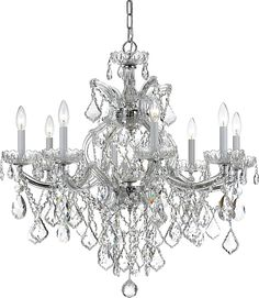 Crystorama Lights   Crystorama Chandelier Fixture Model CL 4409 CH CL SAQ  Crystorama 4409 CH CL SAQ Maria Theresa Chandelier Draped In Swarovski  Spectra ...