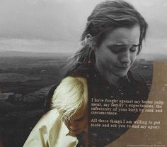 Dramione & pride and prejudice. I had to pin it! It's the perfect quote!