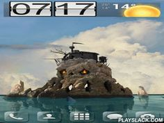 Skull Island 3D  Android App - playslack.com , Live  wallpaper Skull island 3D displays a highjacking island in the form of a skull. The orientation is from the first organism who is in the moving  boat.