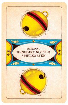 Benedict Bitter has given the traditional Swiss playing cards a new look / Schellen-Ass aus dem Jasskarten-Set von Benedikt Notter (www. Tweety, Winnie The Pooh, Disney Characters, Fictional Characters, Playing Cards, Games, Game Cards, Gaming, Fantasy Characters