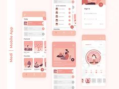 Courses of meditation designed by Martha Pavlenko. Connect with them on Dribbble; Web Design, App Ui Design, Interface Design, Layout Design, User Interface, Best Presentation Templates, Presentation Board Design, Design Youtube, Software Apps