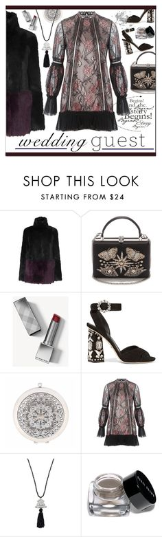 """""""Wedding Guest"""" by calamity-jane-always ❤ liked on Polyvore featuring Alexander McQueen, Burberry, Dolce&Gabbana, Liz Claiborne, Alexis, Kenneth Jay Lane, Bobbi Brown Cosmetics, AlexanderMcQueen, dolcegabbana and fashionset"""