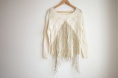DIY FRINGED KNIT - this is awesome, I have to make this!